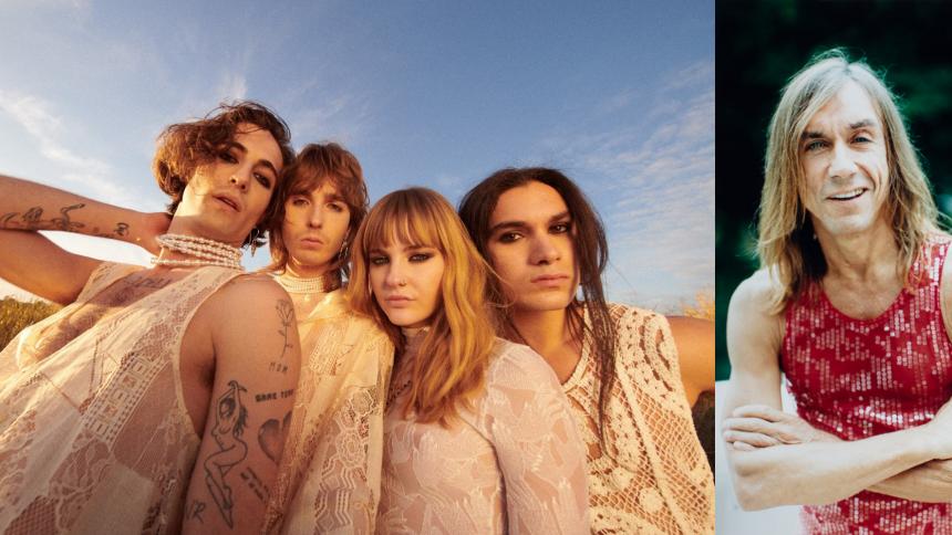 Italienska Eurovisionvinnarna Måneskin samarbetar med Iggy Pop